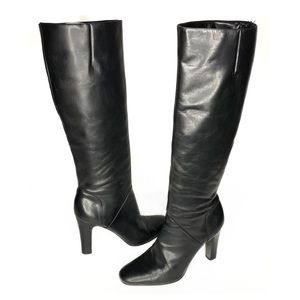 Jessica Simpson Tall Leather Heeled Boots Size 7